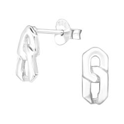 Ohrstecker 925 Sterling Silber mit Kettengliedern