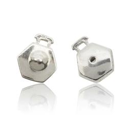 Stick-Pin Sicherung Ohrstecker 925 Sterling Silber mit Drücker