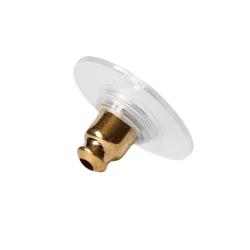 Ohrmutter mit Silikonplatte vergoldet
