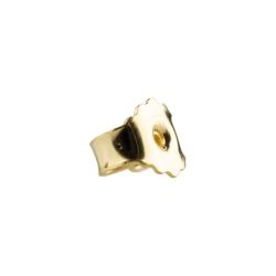 Ohrmutter 750 Gelbgold 18ct Butterfly-Verschluss 6,5 mm