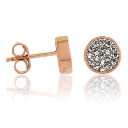 925 Sterling Silber Ohrstecker rosévergoldet mit Zirkoniasteinen
