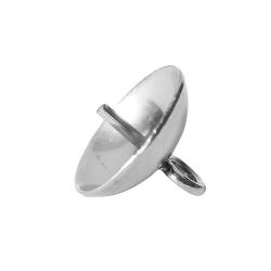 Edelstahl Perlenschale 4-8mm mit Stift und Öse