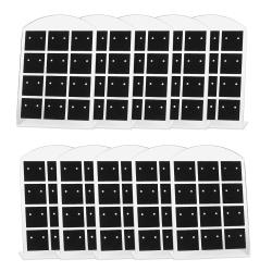 10 x Kunststoff Schmuckdisplay für 12 Paar Ohrstecker 95x65mm in schwarz