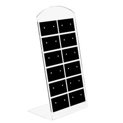 Kunststoff Schmuckdisplay für 12 Paar Ohrstecker 140x69mm in schwarz