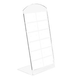 Kunststoff Schmuckdisplay für 12 Paar Ohrstecker 140x69mm in weiß