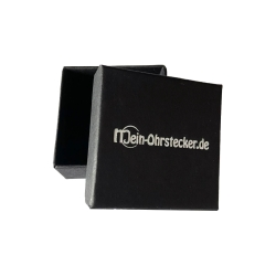 Schwarze Schmuckbox Ohrringe Ohrschmuck Ohrstecker Creolen 50x50x22mm