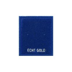 "10 x Schmuckkarte Samtkärtchen Ohrstecker mit Aufschrift ""Echt Gold"""