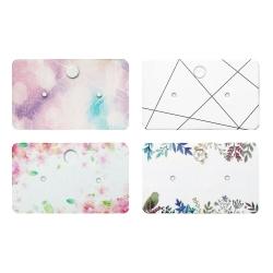 50 x Schmuckkarten für Ohrschmuck mit verschiedenen Mustern