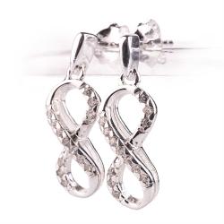 Ohrstecker Infinity 925 Sterling Silber Unendlichkeit