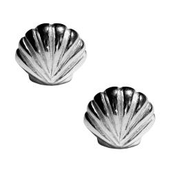 Ohrstecker Meeresmuschel 925er Sterling Silber