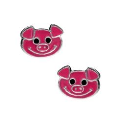Ohrstecker Kleine Schweinchen 925er Sterling Silber