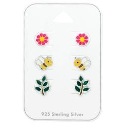 Ohrstecker Set 925 Sterling Silber Frühling