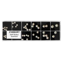 Sortiment mit 50 Süßwasserperlen Button angebohrt in weiß 3,5-8mm