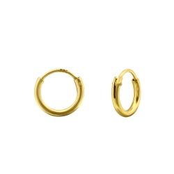 Creolen Ohrringe 925 Sterling Silber vergoldet 8mm