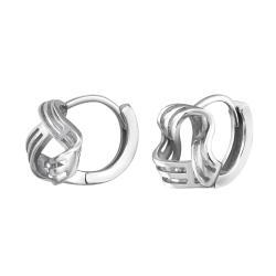 925er Sterling Silber Creolen Ohrringe mit Knoten