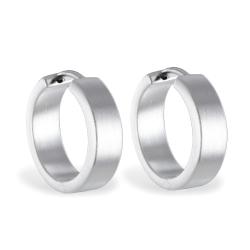 Klappcreolen 925 Sterling Silber Ohrringe seidenmatt 18 mm