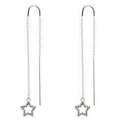 925 Sterling Silber Durchzieher mit Stern