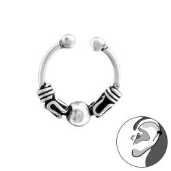 925 Sterling Silber Ear Cuff Bali Ohrklemme