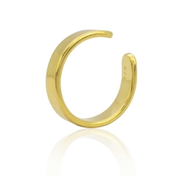 Ohrklemme 925 Sterling Silber Ear Cuff vergoldet