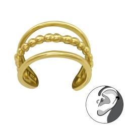 Ear Cuff 925 Sterling Silber vergoldet Ohrmanschette