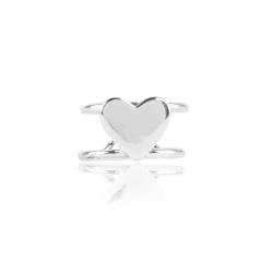 Ear Cuff 925 Sterling Silber Ohrklemme mit Herz
