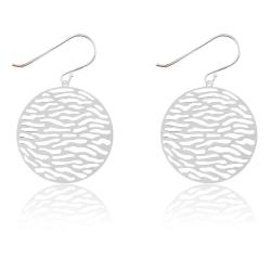 925 Sterling Silber Ohrhaken Ohrringe mit Kreisgeflecht