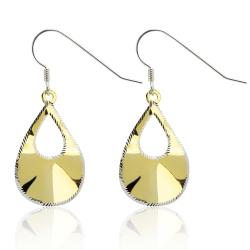 925 Sterling Silber Ohrhaken Ohrringe vergoldet Ohrhänger mit Tropfen