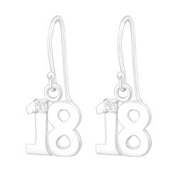 925 Sterling Silber Ohrhaken Ohrhänger mit 18 und Zirkonia