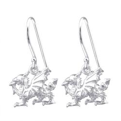 925 Sterling Silber Ohrhaken Ohrhänger mit Drachen
