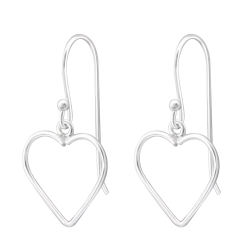 925 Sterling Silber Ohrhaken Ohrhänger mit Herz
