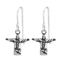 925 Sterling Silber Ohrhaken Ohrhänger mit Jesus