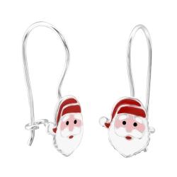 Ohrhaken Ohrringe 925 Sterling Silber mit Weihnachtsmann