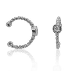 Ear Cuff 925 Sterling Silber Ohrklemme mit Zirkonia