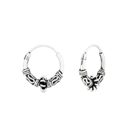 Creolen Ohrringe Bali925 Sterling Silber 12 mm