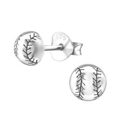 Ohrstecker 925 Sterling Silber mit Baseball