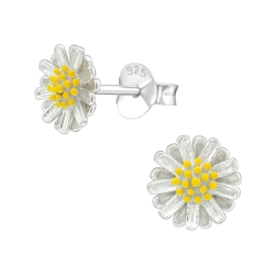 Ohrstecker 925 Sterling Silber mit Blume