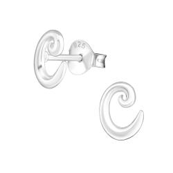 Buchstaben Ohrstecker 925 Sterling Silber mit C