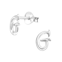 Buchstaben Ohrstecker 925 Sterling Silber mit G