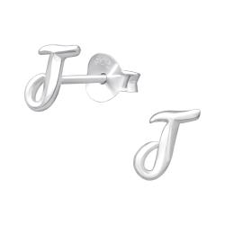 Buchstaben Ohrstecker 925 Sterling Silber mit J