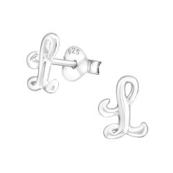 Buchstaben Ohrstecker 925 Sterling Silber mit L