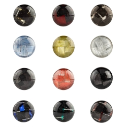 925 Sterling Silber Ohrstecker Carbonfaser in verschiedenen Farben