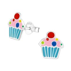 Ohrstecker 925 Sterling Silber mit Cupcake
