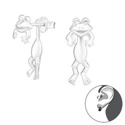 Ohrstecker 925 Sterling Silber Ear Jacket mit Frosch