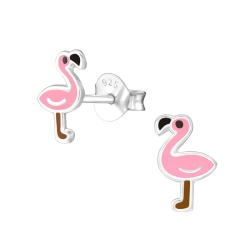 Ohrstecker 925 Sterling Silber mit Flamingo