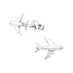 Ohrstecker 925 Sterling Silber mit Flugzeug