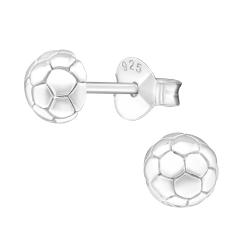 Ohrstecker 925 Sterling Silber mit Fußball