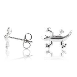 Ohrstecker 925 Sterling Silber mit Gecko
