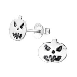 Ohrstecker Halloween 925 Sterling Silber Kürbis