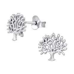 Ohrstecker 925 Sterling Silber mit Lebensbaum