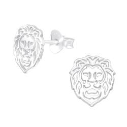 Ohrstecker 925 Sterling Silber mit Löwe